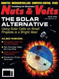 V ol. 26 No . 4 Nuts & V olts THE SOLAR AL TERNA TIVE April 2005