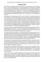 Chronik der Gemeinde Damüls für das Jahr 2007 - Vorarlberger ...