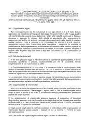 Norme relative ai rapporti delle organizzazioni di volontari - Cesvot