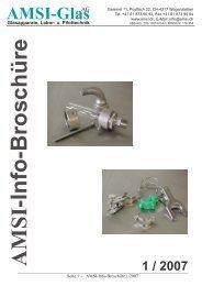 Info-Broschüre 1/2007 - AMSI Glas AG, Glasapparate, Labor