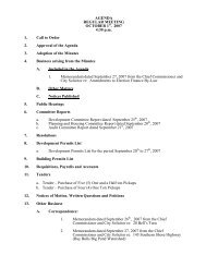 Council Agenda Monday, October 1, 2007 - City of St. John's