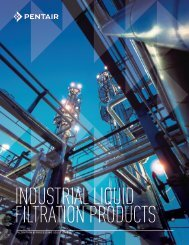 FILTRATION & PROCESSING SOLUTIONS - Pentair Industrial