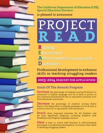 Download this 2-page Project READ flyer to hand out - CalSTAT