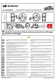 Installation Instructions/ Einbauanleitung/ Instructions de ... - Dancar