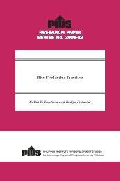 Rice Production Practices - Philippine Institute for Development ...