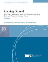 Gaining Ground - Integrating Environmental, Social and ... - IFC
