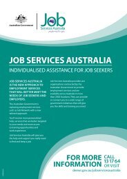 What is Job Services Australia? (140 KB) - G-Force Recruitment