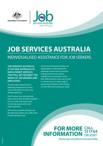 What is Job Services Australia? (140 KB) - G-Force Recruitment