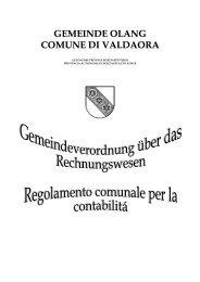 GEMEINDE OLANG COMUNE DI VALDAORA