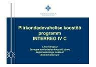 Piirkondadevahelise koostöö programm programm INTERREG IV C