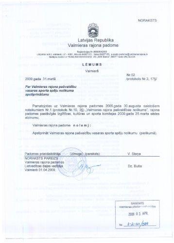 Valmieras rajona pašvaldību vasaras sporta spēļu NOLIKUMS - LV