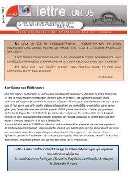 La lettre de l'U.R. 05 N° 42 - Fédération Photographique de France