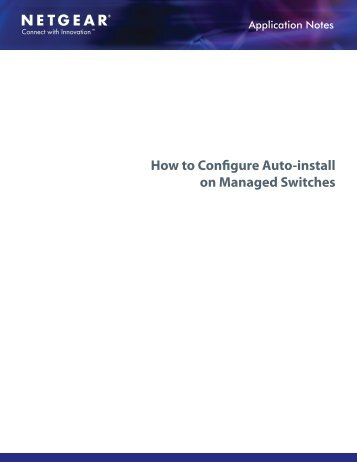 How to Configure Auto-install on Managed Switches - Netgear