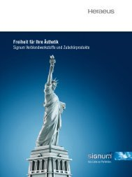 Signum Gesamtbroschüre - Heraeus Dental