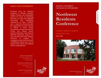 Northwest Residents Conference - Pacific University
