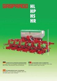 HL HP HS HR - Maschio Deutschland GmbH