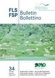FLS-Bulletin Nr. 34 - Fonds Landschaft Schweiz