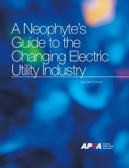 2011 APPA Neophyte's Guide to Electricity - American Public Power ...