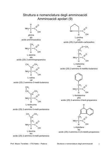 Amminoacidi struttura e nomenclatura.pdf - PianetaChimica.it