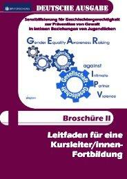 German GEAR against IPV Booklet II - SPI Forschung gGmbH