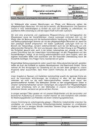 Allgemeine vorvertragliche Informationen - Seniorenresidenz Moseltal