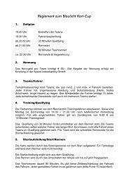 Reglement zum Blaulicht Kart-Cup - Speed-Landsberg