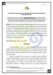 Cultivares Algodoeiro Cerrado 0708 - Fundação Bahia