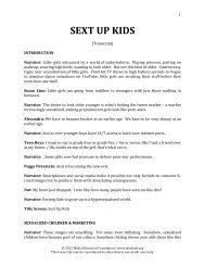 Sext Up Kids [Transcript] - Media Education Foundation