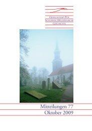 Mitteilungen 77 - Geschichte in Schleswig-Holstein