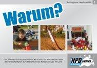 Broschüre zum Kinderschutz - NPD Fraktion MV