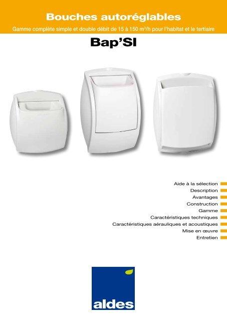 Bapsi D2 modulo Bouche autor/églable de cuisine Aldes
