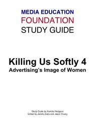 Killing Us Softly 4 - Study Guide - Media Education Foundation