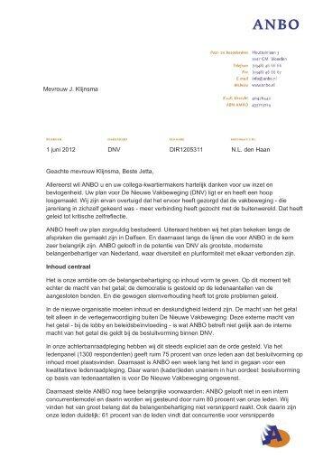 brief aan Jetta Klijnsma - Anbo