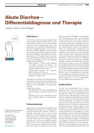 Akute Diarrhoe - Differentialdiagnose und Therapie - Swiss Medical ...
