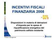 INCENTIVI FISCALI FINANZIARIA 2008 - Rhoss