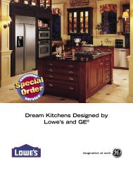 Dream Kitchens Designed by Lowe's and GE®