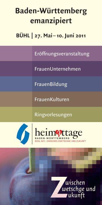 Flyer Heimattage 2011 - frauen-unternehmen eV