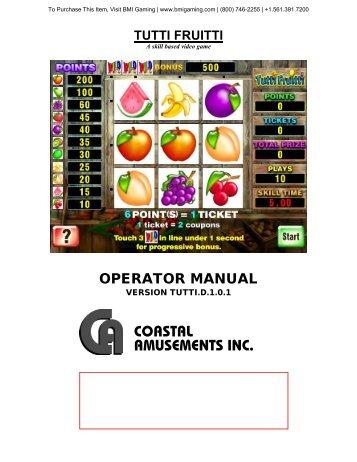 tutti-fruitti-casino.. - BMI Gaming