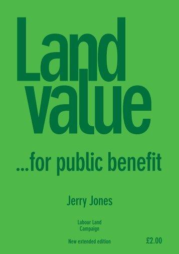 ...for public benefit - Labour Land Campaign