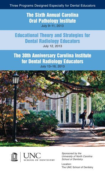 The Sixth Annual Carolina Oral Pathology Institute Educational ...