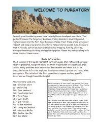 Purgatory Bouldering, Nevada - SuperTopo