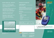 Lactate measuring - what for? - Medical Tech Oy