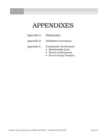 APPENDIXES - Jackson County Oregon