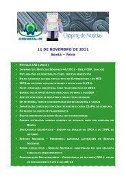 11 DE NOVEMBRO DE 2011 Sexta – feira - Sindimetal/PR