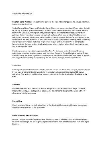 Information & Artist Biographies.pdf - Nottingham Asian Arts Council