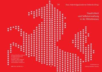 Staatlichkeit und Selbstverwaltung in der Mittelinstanz - Westfalen ...