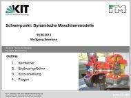 Dynamische Maschinenmodelle - Fakultät für Maschinenbau