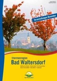 Veranstaltungen November - Gemeinde und Tourismusverband ...