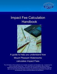 Impact Fee Calculation Guide - Mount Pleasant Waterworks