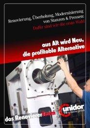 aus Alt wird Neu, die profitable Alternative das Renovierer ... - Unidor